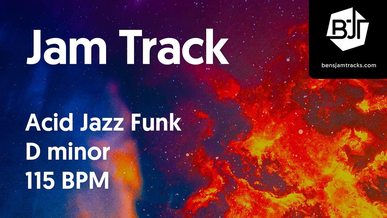 Acid Jazz Funk Jam Track in D minor – BJT #28
