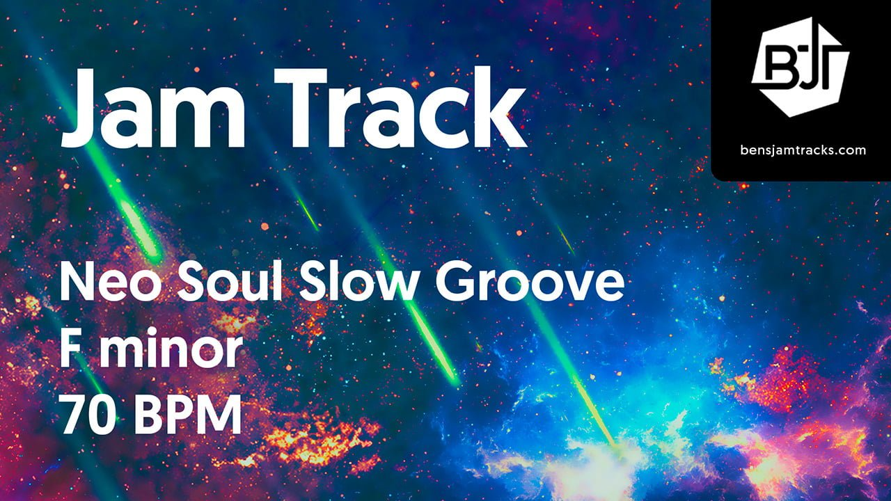 Neo Soul Slow Groove Jam Track in F minor – BJT #29