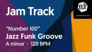 """p-single image for Jazz Funk Groove in A minor """"Number 100"""""""