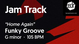 """p-single image for Funky Groove in G minor """"Home Again"""""""