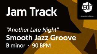 """p-single image for Smooth Jazz Groove in B minor """"Another Long Night"""""""