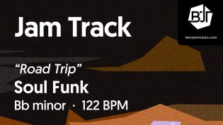 """p-single image for Soul Funk in Bb minor """"Road Trip"""""""