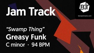 """p-single image for Greasy Funk in C minor """"Swamp Thing"""""""