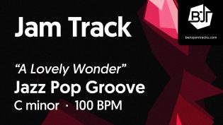 """p-single image for Jazz Pop Groove in C minor """"A Lovely Wonder"""""""